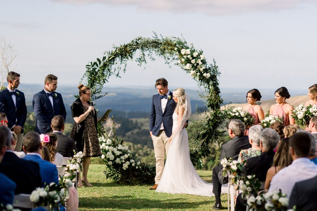 Maleny Manor Wedding Ceremony on the Plateau