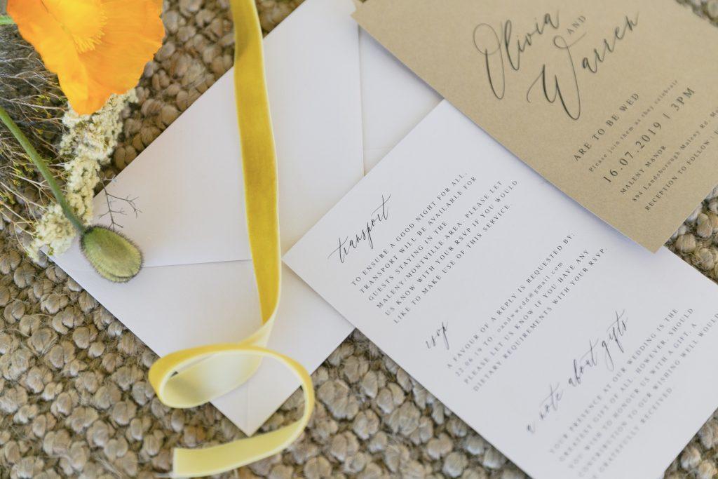 Wedding Invitation trends 2020 Maleny Manor
