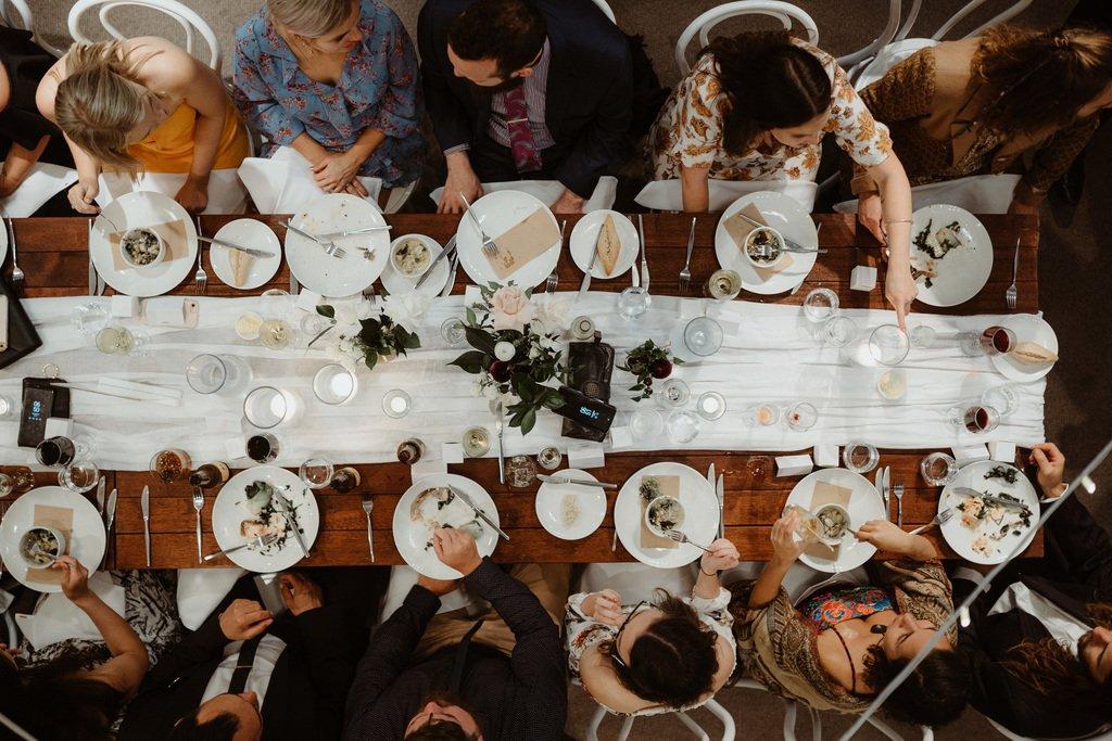 Group Dining Wedding Reception
